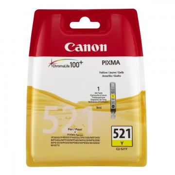 CLI-521Y | 2936B004 струйный картридж Canon, 535 стр., желтый