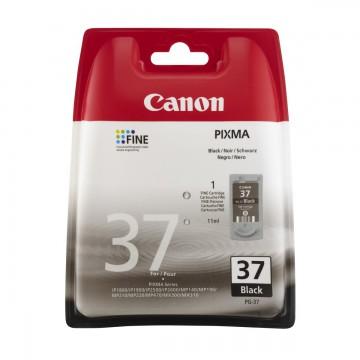 PG 37 оригинальный струйный картридж Canon черный, ресурс печати - 219 страниц