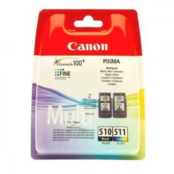 Canon PG-510 + CL-511 | 2970B010 оригинальный струйный картридж - черный + цветной, 220 стр