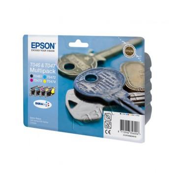 Epson T0462 Color | C13T04624A10 оригинальный струйный картридж - набор цветной + черный, 400 стр