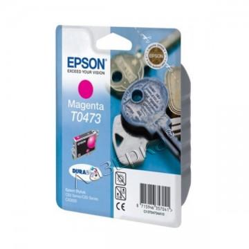 C13T04734A10 T0473 Magenta струйный картридж Epson пурпурный