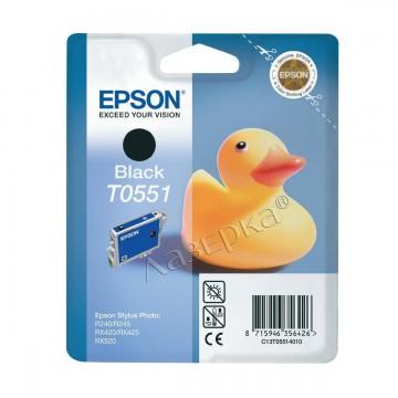 C13T05514010 T0551 Black оригинальный струйный картридж Epson черный, ресурс - 290 страниц