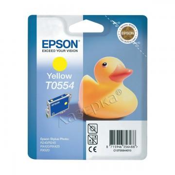 C13T05544010 T0554 Yellow оригинальный струйный картридж Epson желтый, ресурс - 290 страниц