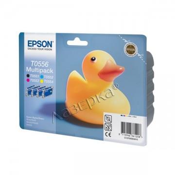C13T05564010 T0556 Multipack оригинальный комплект картриджей Epson 6 шт, ресурс - 290 страниц