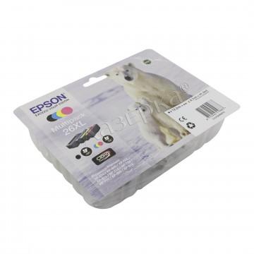 Epson 26XL Multipack | C13T26364010 оригинальный струйный картридж - набор цветной + черный, 700 стр