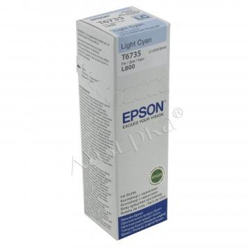 Epson T6735 Light Cyan | C13T67354A оригинальный струйный картридж - светло-голубой, 1800 стр