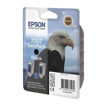 C13T00740210 T007 + T007 оригинальный струйный картридж Epson черный + двойная упаковка, ресурс - 2*540 страниц