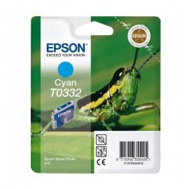 C13T03324010 T0332 Cyan струйный картридж Epson голубой