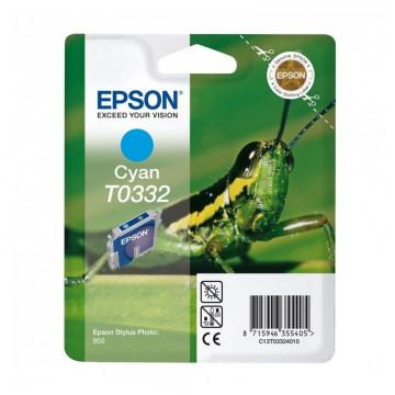 C13T03324010 T0332 Cyan оригинальный струйный картридж Epson голубой, ресурс - 440 страниц