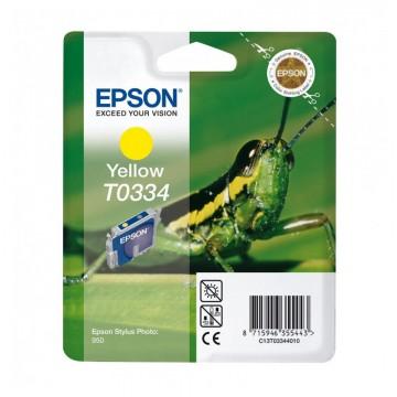 C13T03344010 T0334 Yellow оригинальный струйный картридж Epson желтый, ресурс - 440 страниц
