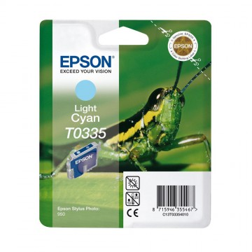 C13T03354010 T0335 Light cyan оригинальный струйный картридж Epson светло-голубой, ресурс - 440 страниц