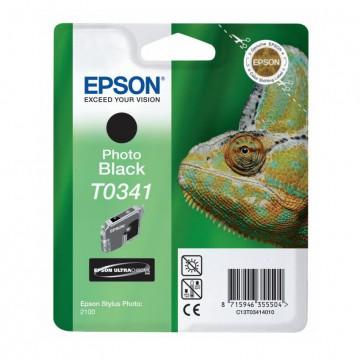 C13T03414010 T0341 Photo black оригинальный струйный картридж Epson черный-фото, ресурс - 628 страниц