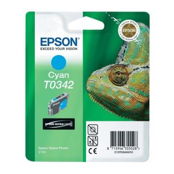 C13T03424010 T0342 Cyan оригинальный струйный картридж Epson голубой, ресурс - 440 страниц
