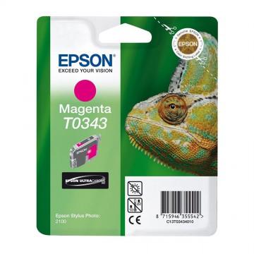 C13T03434010 T0343 Magenta оригинальный струйный картридж Epson пурпурный, ресурс - 440 страниц