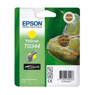 C13T03444010 T0344 Yellow оригинальный струйный картридж Epson желтый, ресурс - 440 страниц