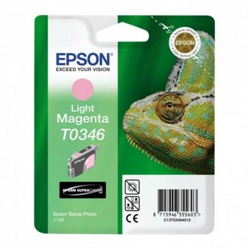 C13T03464010 T0346 Light magenta оригинальный струйный картридж Epson светло-пурпурный, ресурс - 440 страниц