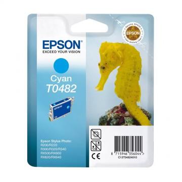 C13T04824010 T0482 Cyan оригинальный струйный картридж Epson голубой, ресурс - 430 страниц