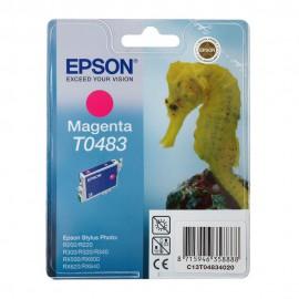 C13T04834010 T0483 Magenta оригинальный струйный картридж Epson пурпурный, ресурс - 430 страниц