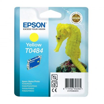 C13T04844010 T0484 Yellow оригинальный струйный картридж Epson желтый, ресурс - 430 страниц