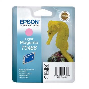 C13T04864010 T0486 Light magenta оригинальный струйный картридж Epson светло-пурпурный, ресурс - 430 страниц