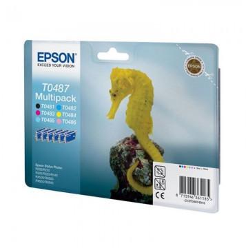 C13T04874010 T0487 Multipack оригинальный комплект картриджей Epson 6 шт, ресурс - 400 страниц