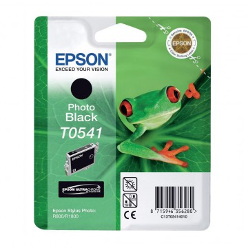 C13T05414010 T0541 Photo black оригинальный струйный картридж Epson черный-фото, ресурс - 400 страниц