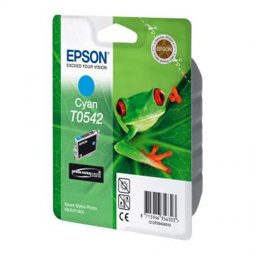 C13T05424010 T0542 Cyan оригинальный струйный картридж Epson голубой, ресурс - 400 страниц