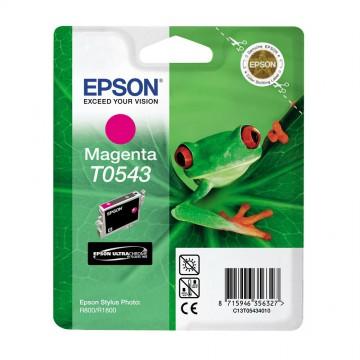 C13T05434010 T0543 Magenta оригинальный струйный картридж Epson пурпурный, ресурс - 400 страниц