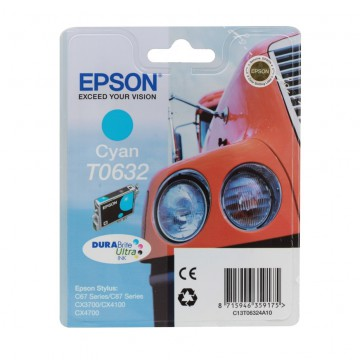 C13T06324A10 T0632 Cyan струйный картридж Epson голубой