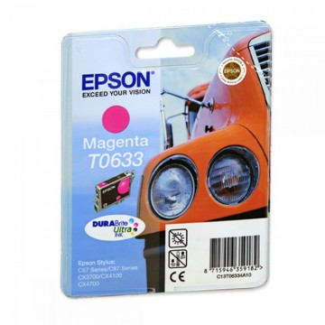 C13T06334A10 T0633 Magenta оригинальный струйный картридж Epson пурпурный, ресурс - 250 страниц