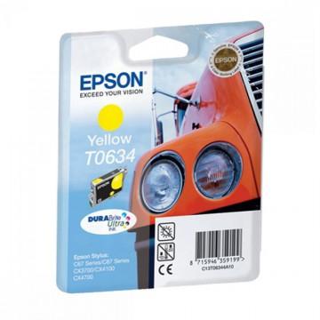 C13T06344A10 T0634 Yellow оригинальный струйный картридж Epson желтый, ресурс - 250 страниц