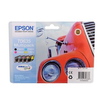C13T06354A10 T0635 Multipack оригинальный комплект картриджей Epson 4 шт, ресурс - 250 страниц
