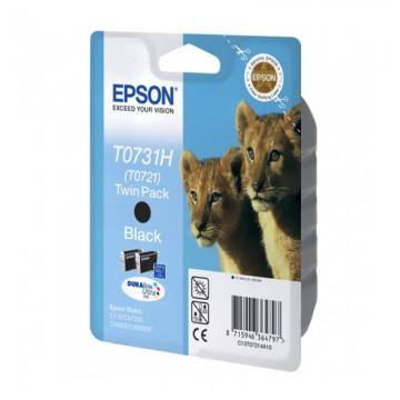 Epson T0731H Black 2-Pack | C13T10414A10 оригинальный струйный картридж - черный, 2 x 325 стр
