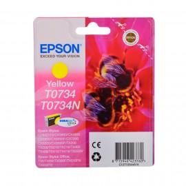 C13T10544A10 T0734 Yellow оригинальный струйный картридж Epson желтый, ресурс - 250 страниц