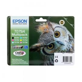 C13T079A4A10 T079A4 Multipack оригинальный комплект картриджей Epson 6 шт, ресурс - 550 страниц