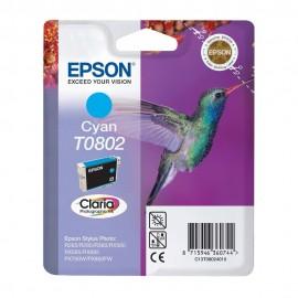 T0802 Cyan | C13T08024011 (Epson) струйный картридж - 480 стр, голубой