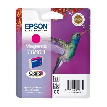 Epson T0803 Magenta | C13T08034011 оригинальный струйный картридж - пурпурный, 480 стр