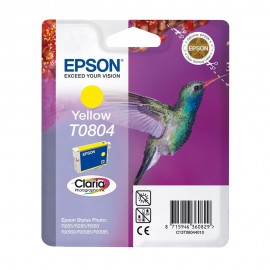C13T08044011 T0804 Yellow оригинальный струйный картридж Epson желтый, ресурс - 480 страниц