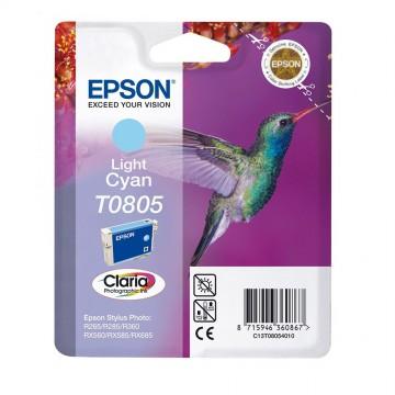 Epson T0805 Light Cyan | C13T08054011 оригинальный струйный картридж - светло-голубой, 480 стр