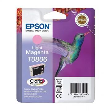 Epson T0806 Light Magenta | C13T08064011 оригинальный струйный картридж - светло-пурпурный, 480 стр