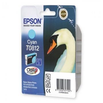 C13T11124A10 T0812 Cyan оригинальный струйный картридж Epson голубой, ресурс - 480 страниц