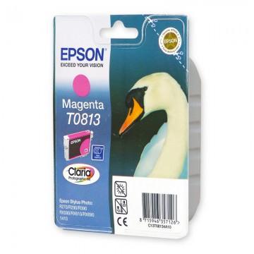 Epson T0813 Magenta | C13T11134A10 оригинальный струйный картридж - пурпурный, 480 стр