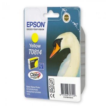 C13T11144A10 T0814 Yellow оригинальный струйный картридж Epson желтый, ресурс - 480 страниц