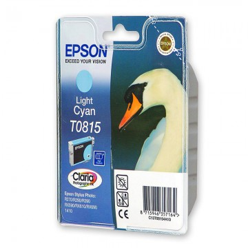 C13T11154A10 T0815 Light cyan оригинальный струйный картридж Epson светло-голубой, ресурс - 480 страниц
