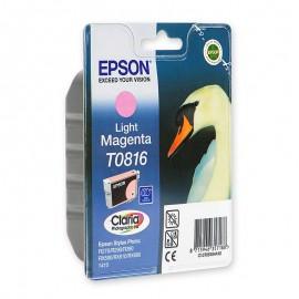 C13T11164A10 T0816 Light magenta оригинальный струйный картридж Epson светло-пурпурный, ресурс - 480 страниц