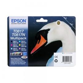 Уценка! T0817 Multipack | C13T11174A10 (Epson) струйный картридж - 480 стр, набор цветной + черный