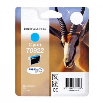 C13T10824A10 T0922 Cyan оригинальный струйный картридж Epson голубой, ресурс - 250 страниц