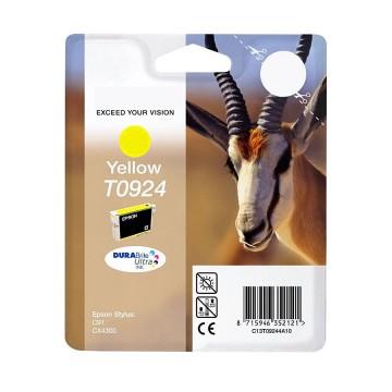 C13T10844A10 T0924 Yellow оригинальный струйный картридж Epson желтый, ресурс - 250 страниц