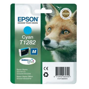 Epson T1282 Cyan | C13T12824011 оригинальный струйный картридж - голубой, 260 стр