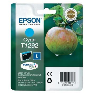 Epson T1292 Cyan | C13T12924012 оригинальный струйный картридж - голубой, 460 стр